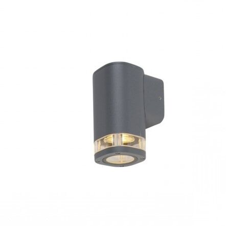 Buitenwandlamp-vierkant-1-lichts-donker-grijs-IP54---Fox