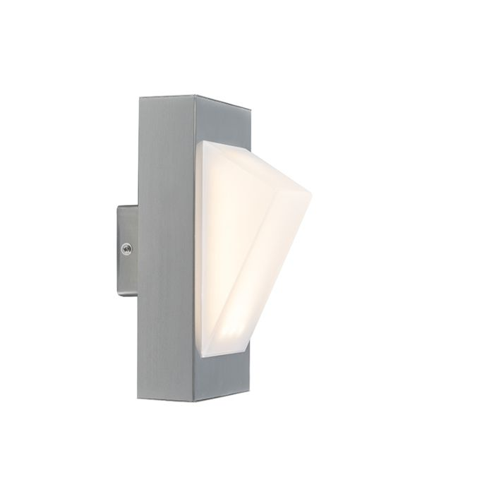 Moderne-buitenlamp-wand-staal-incl.-LED---Tori
