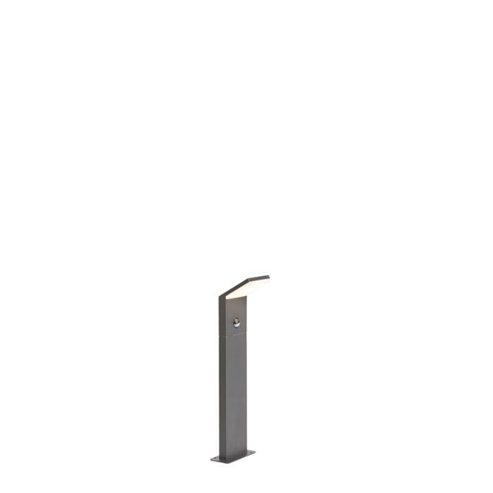 Moderne-buitenlamp-donkergrijs-50cm-LED-met-bewegingssensor---Mapi