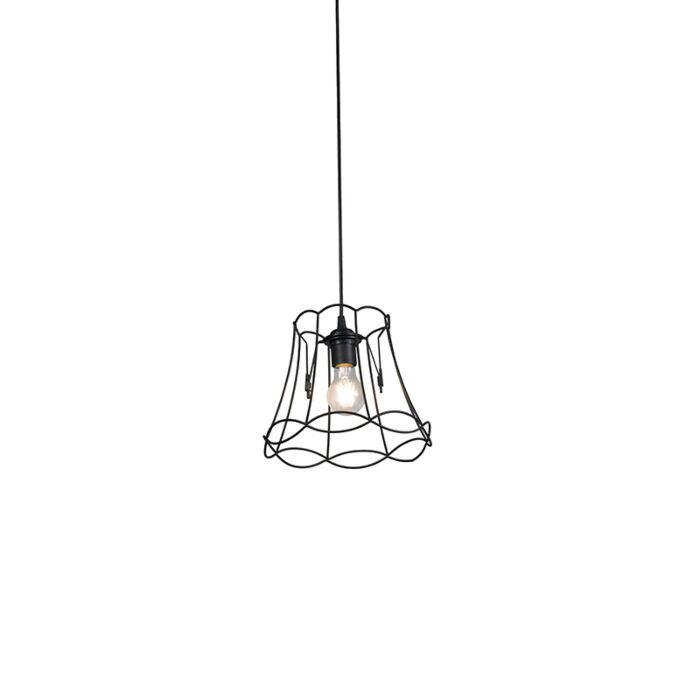 Retro-hanglamp-zwart-25-cm---Granny-Frame