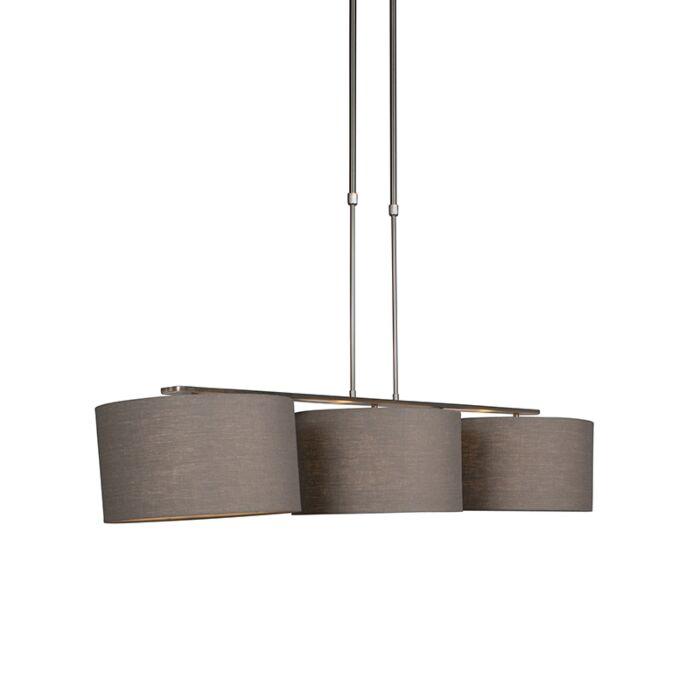 Hanglamp-staal-met-kap-35-cm-oud-grijs---Combi-3-Deluxe