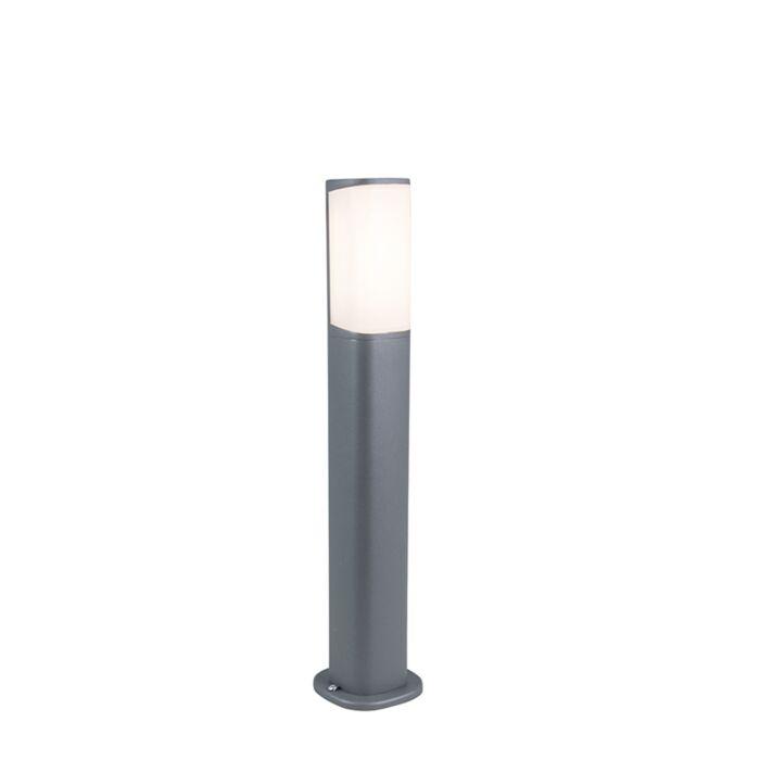 Moderne-buitenlamp-donkergrijs-50cm-incl.-LED---Rico