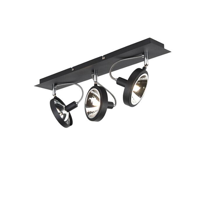 Design-spot-zwart-3-lichts-verstelbaar---Nox