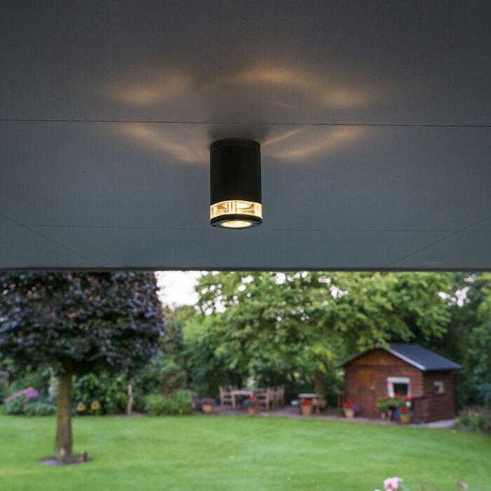 Moderne-plafondspot-IP54-donker-grijs---Fox