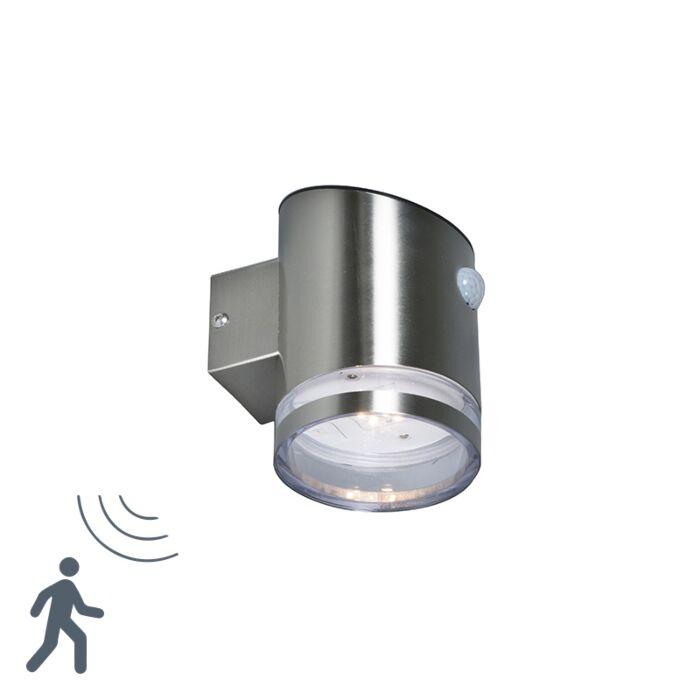 Buitenlamp-Bore-LED-staal-met-bewegingsmelder