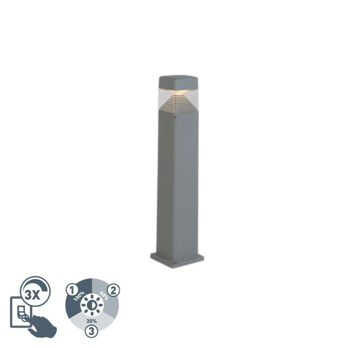 Moderne-buitenpaal-grijs-80-cm-incl.-LED-IP55---Ester