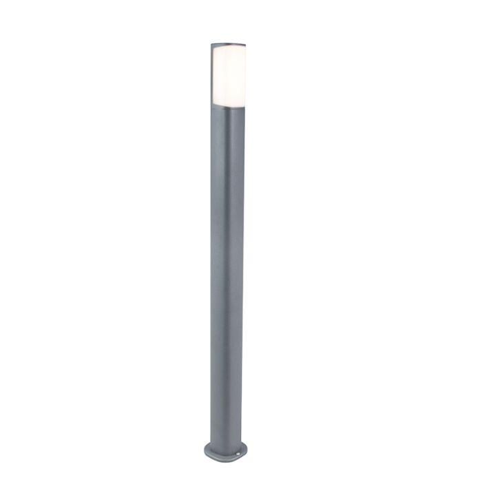 Moderne-buitenlamp-donkergrijs-100cm-incl.-LED---Rico