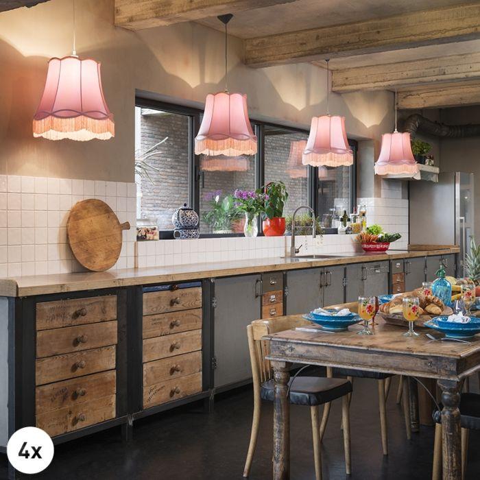 Set-van-4-retro-hanglampen-roze-45-cm---Granny