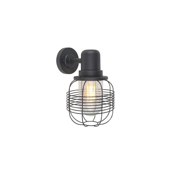 Landelijke-buitenwandlamp-zwart-IP44---Guardado
