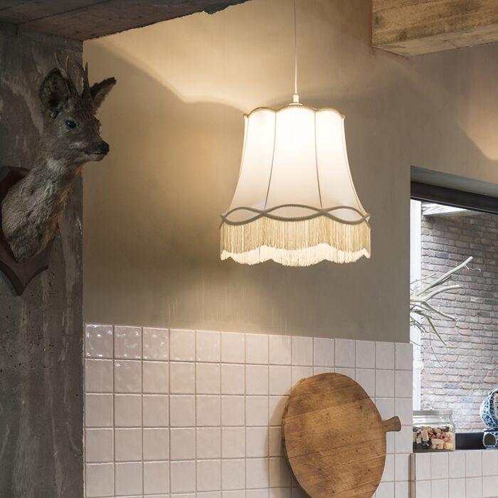 Retro-hanglamp-crème-45-cm---Granny