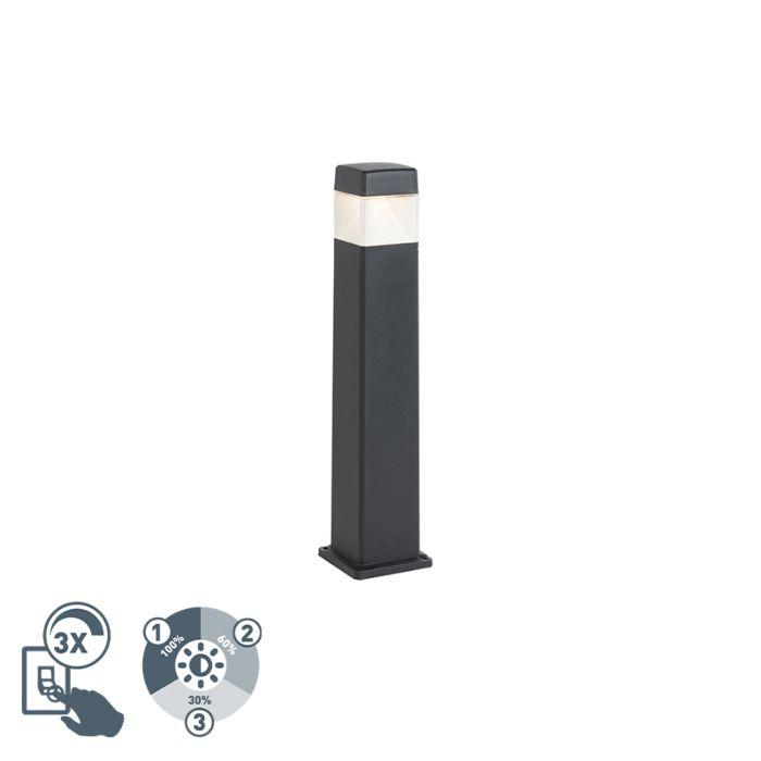 Moderne-buitenpaal-zwart-80-cm-incl.-LED-IP55---Elisa
