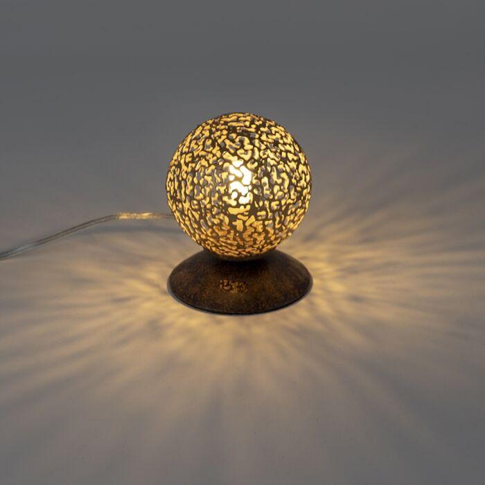 Landelijke-tafellamp-roestbruin-10-cm---Kreta