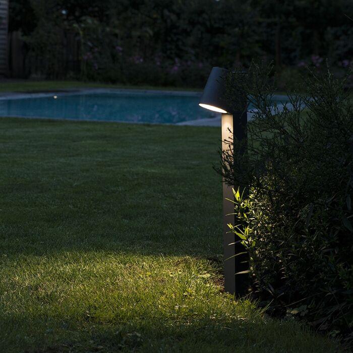 Moderne-staande-buitenlamp-antraciet-incl.-LED---Uma