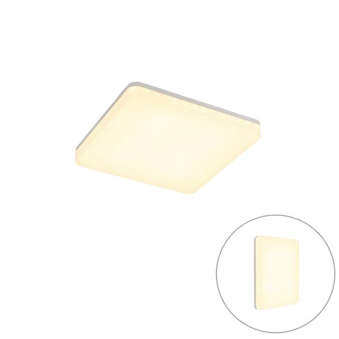 Moderne-plafondlamp-vierkant-incl.-LED---Plater
