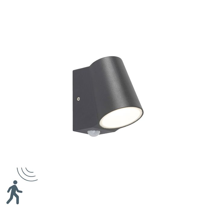 Buitenlamp-antraciet-met-bewegingssensor-incl.-LED---Uma