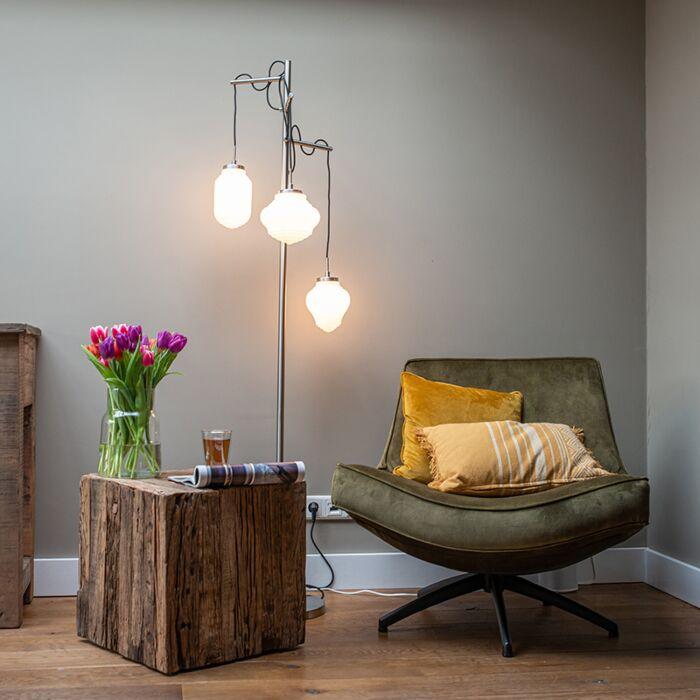 Art-Deco-vloerlamp-staal-met-opaal-glas-3-lichts---Bolsena