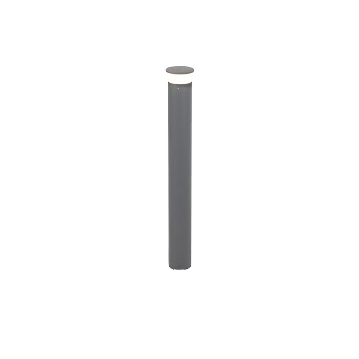 Moderne-buitenlamp-paal-donkergrijs-80-cm-incl.-LED---Bar