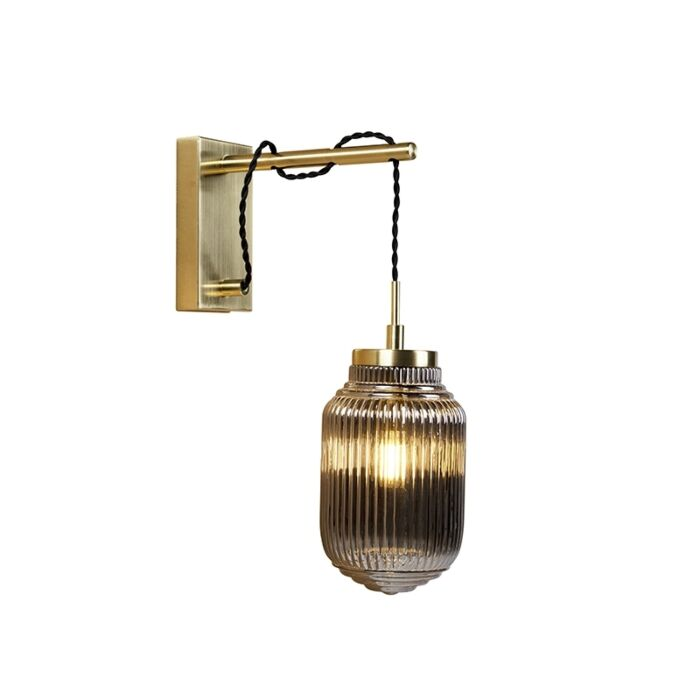 Art-deco-wandlamp-messing-met-smoke-glas---Bolsena