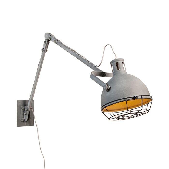 Industriële-verstelbare-wandlamp-metaal---Rela