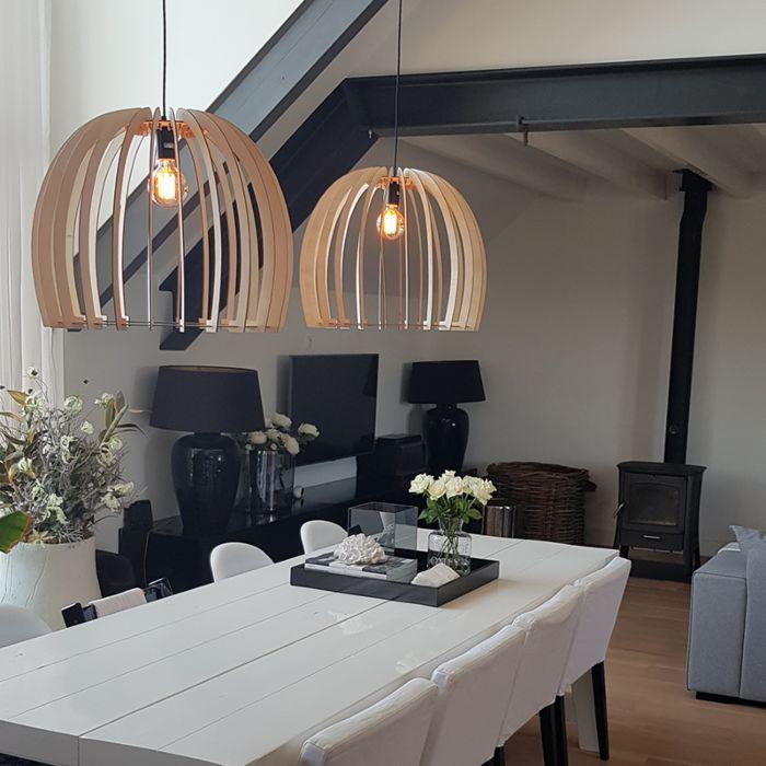 Landelijke-ronde-hanglamp-houtkleur-60cm---Twan