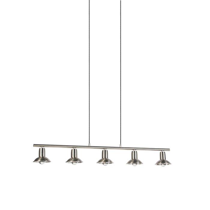 Design-hanglamp-zilver-5-lichts---Avril