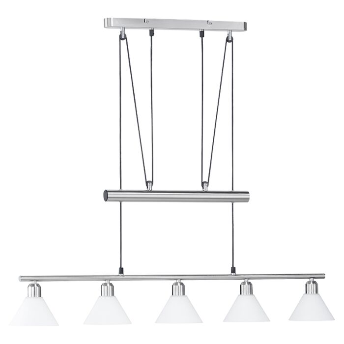 Moderne-langwerpige-hanglamp-staal---Stamina