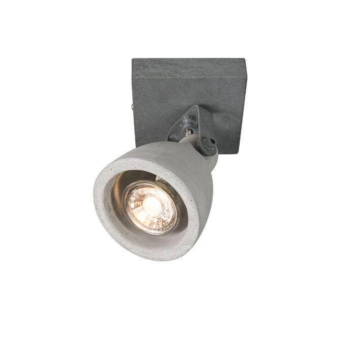 Set-van-2-industriële-spots-grijs-beton-1-lichts---Creto