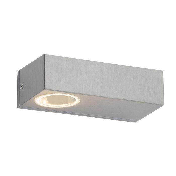 Moderne-langwerpige-buitenwandlamp-staal-incl.-LED---Jens