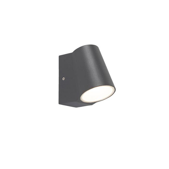 Buitenlamp-antraciet-met-licht-donker-sensor-incl.-LED---Uma