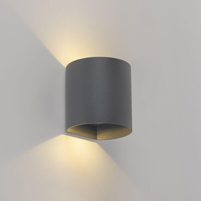Moderne-wandlamp-antraciet-incl.-LED-rond---Evi