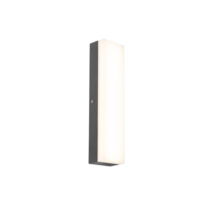 Moderne-rechthoekige-buitenwandlamp-donkergrijs---Opacus