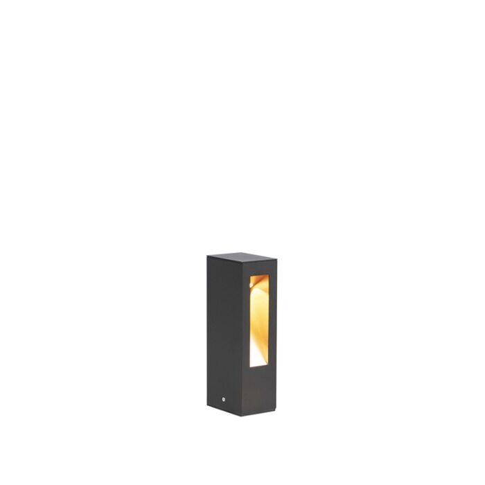 Moderne-staande-buitenlamp-zwart-25cm-incl.-LED---Intorus