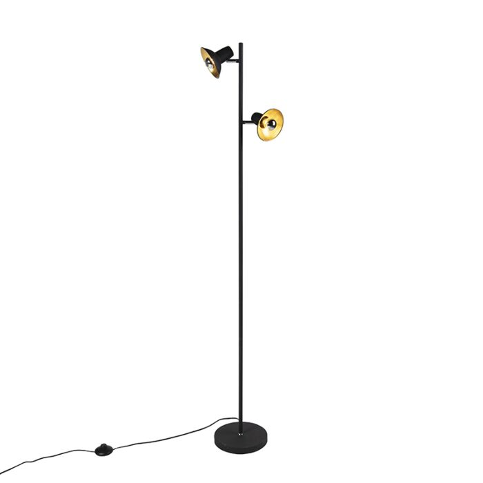 Design-vloerlamp-zwart-met-goud-2-lichts---Avril