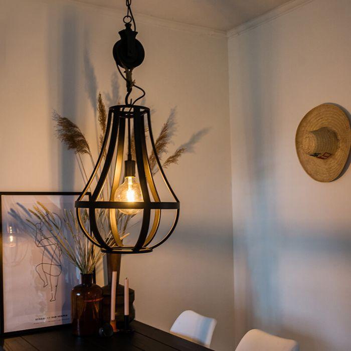 Industriële-hanglamp-zwart-40-cm---Morgana