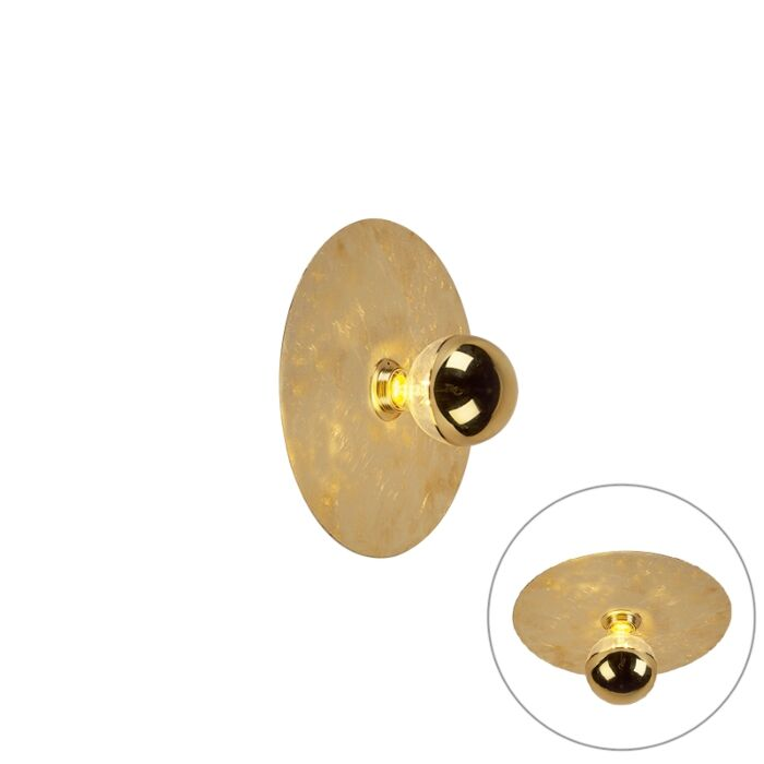 Moderne-wandlamp-goud-30cm---Disque