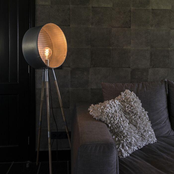 Industriële-vloerlamp-grijs-tripod---Barrel