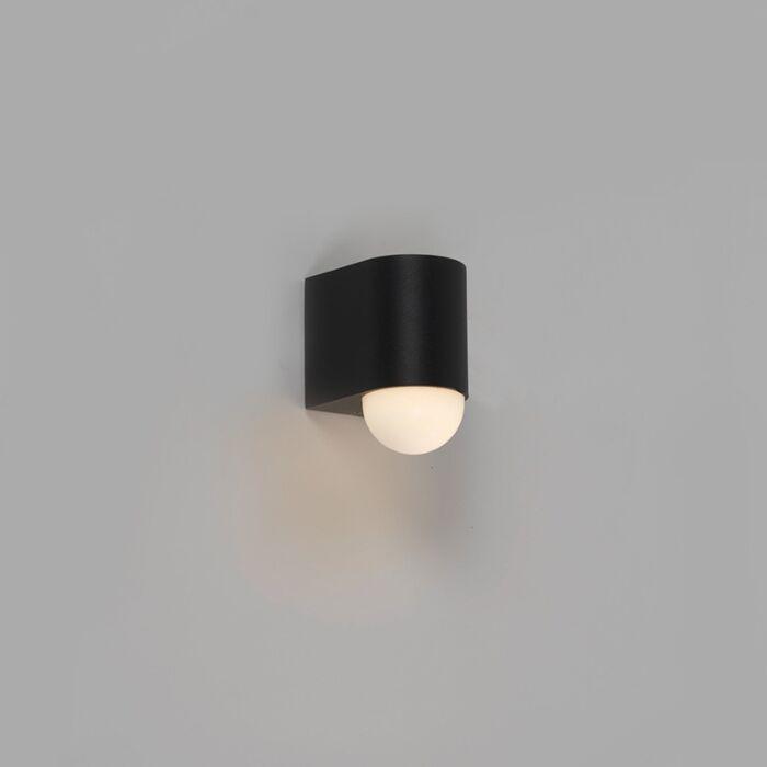 Moderne-buitenwandlamp-zwart-incl.-LED---Prim