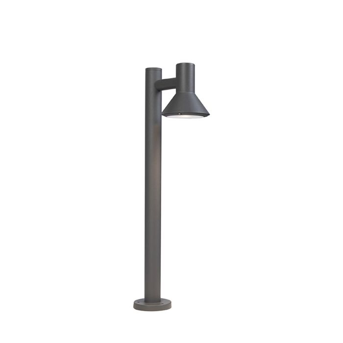 Moderne-staande-buitenlamp-donkergrijs-65cm---Humilis