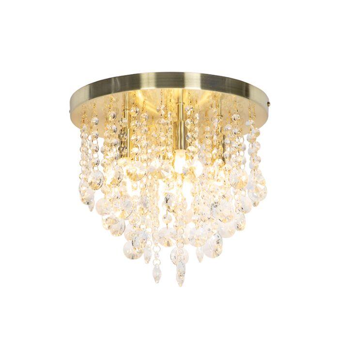 Klassieke-plafondlamp-goud-met-glas---Medusa