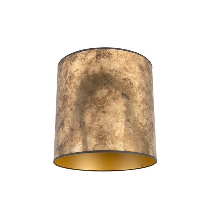 Lampenkap-brons-40/40/40-met-gouden-binnenkant