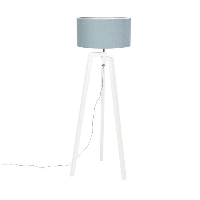 Vloerlamp-tripod-wit-hout-met-mineraal-kap-50-cm---Puros