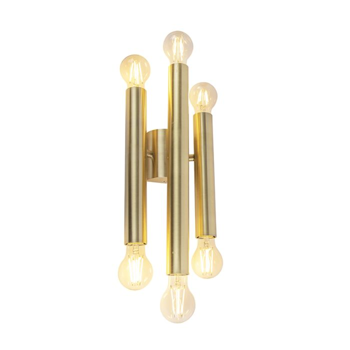 Vintage-wandlamp-goud-6-lichts--Facil