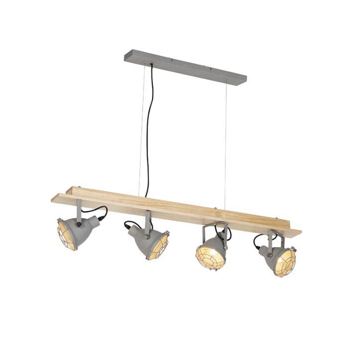 Industriele-hanglamp-4-lichts-grijs---Antigo
