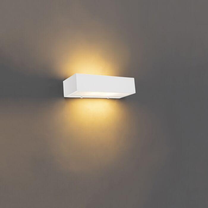 Design-langwerpige-wandlamp-wit-25-cm---Houx