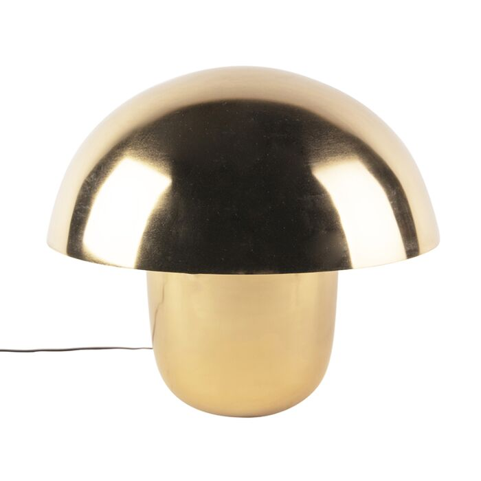 Moderne-tafellamp-goud-met-witte-binnenkant-50-cm---Canta