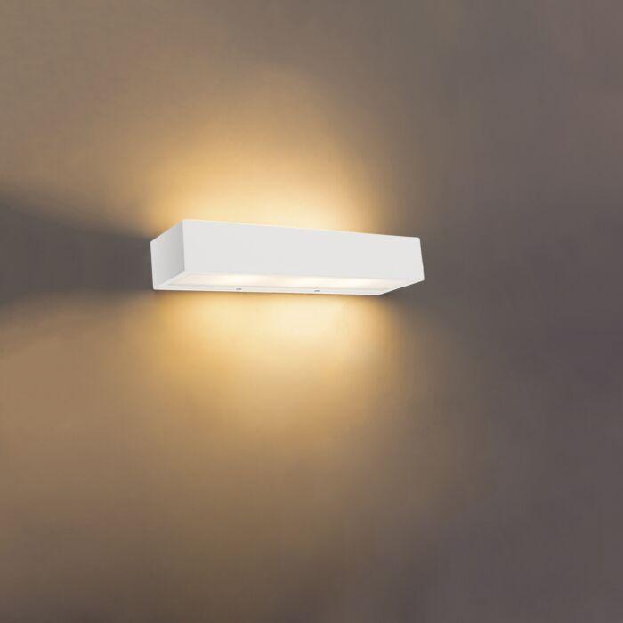 Design-langwerpige-wandlamp-wit-35-cm---Houx