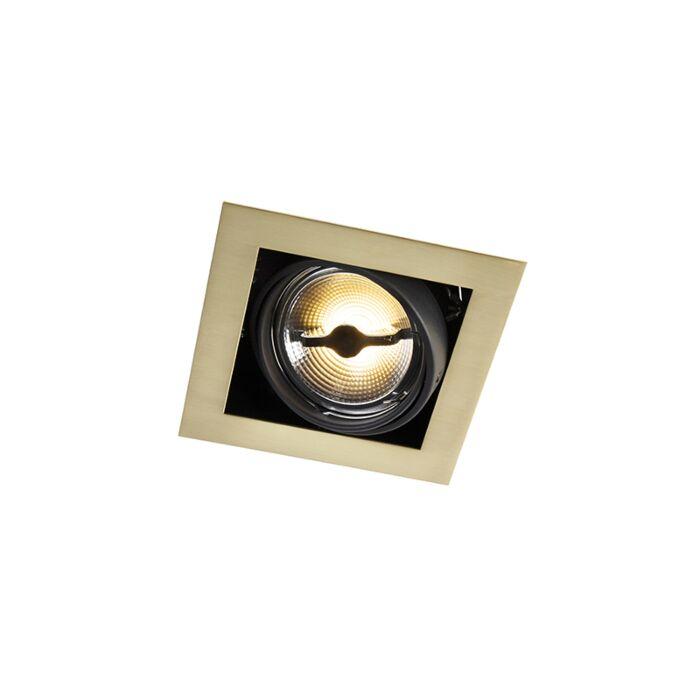 Inbouwspot-messing-AR111-vierkant-verstelbaar---Oneon