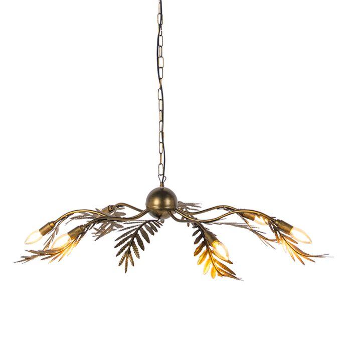 Vintage-hanglamp-6-lichts-goud---Botanica