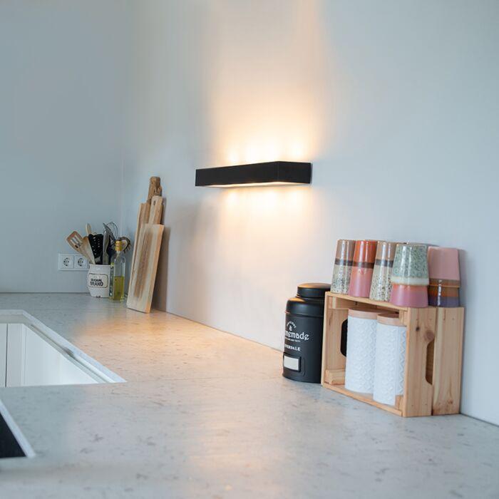 Design-langwerpige-wandlamp-zwart-60-cm---Houx
