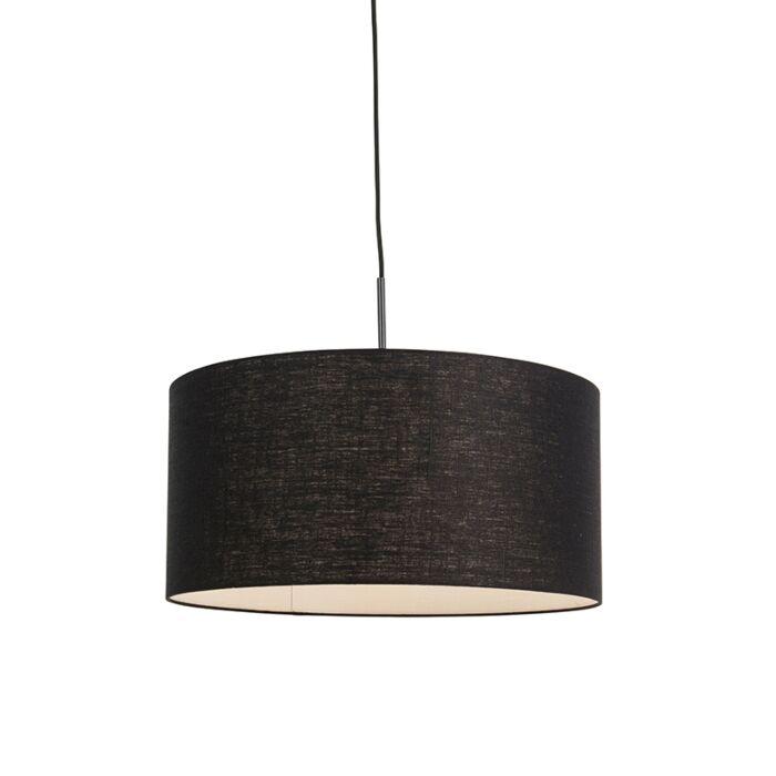 Moderne-hanglamp-zwart-met-zwarte-kap-50-cm---Combi-1